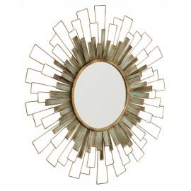 Miroir mural rond art déco soleil métal doré Nordal D 88 cm