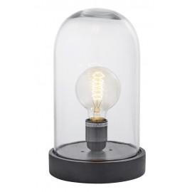 Lampe de table sous cloche verre bois Nordal Dome