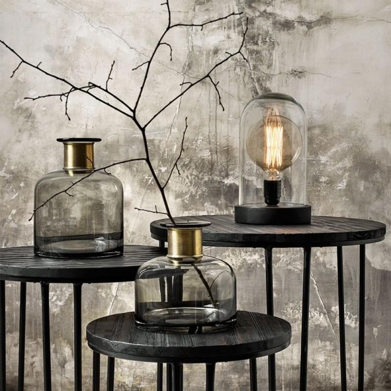 nordal dome lampe sous cloche de verre 1260. Black Bedroom Furniture Sets. Home Design Ideas