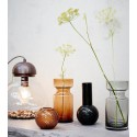Vase en verre noir rétro Madam Stoltz