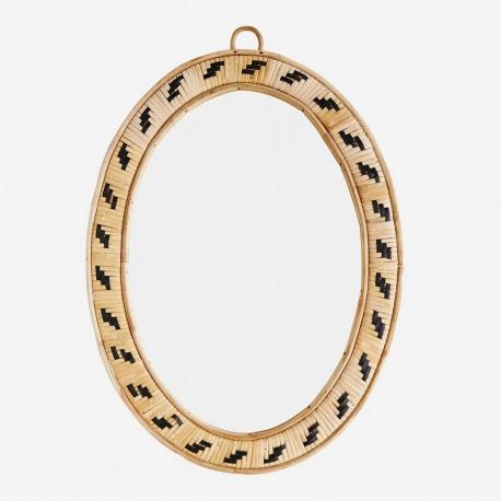 Miroir ovale bambou Madam Stoltz