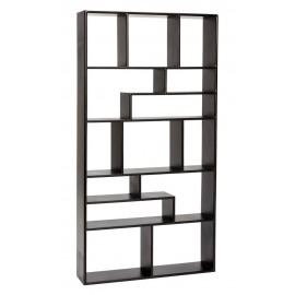 Étagère labyrinthe graphique noire bois Hübsch