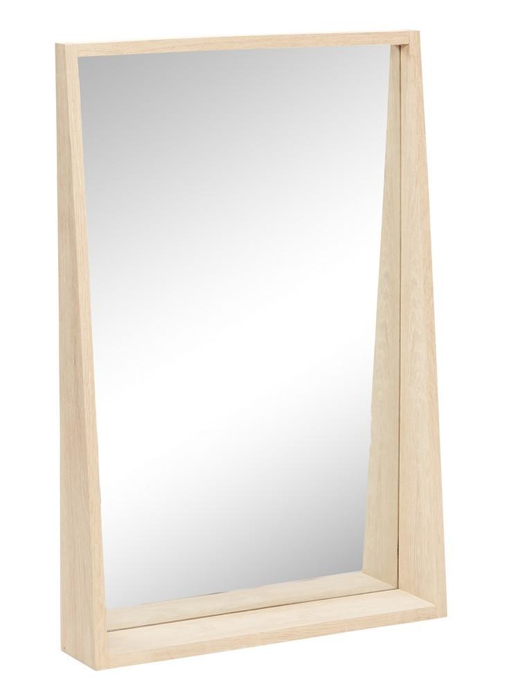 hubsch miroir rectangulaire bois chene clair