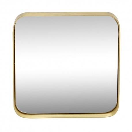 hubsch miroir carre laiton coins arrondis