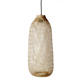 bloomingville bamboo suspension en bambou tresse
