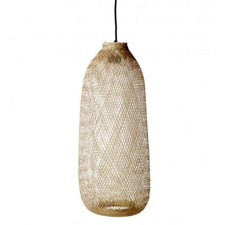 bloomingville bamboo suspension en bambou tresse