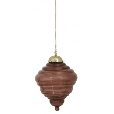 nordal tornado suspension retro verre rouge bordeaux