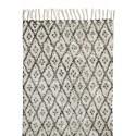 Tapis long noir et blanc motifs losanges Nordal 110 x 170 cm
