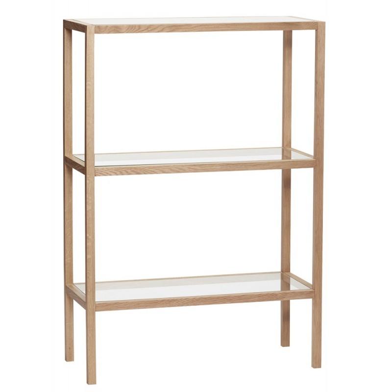 hubsch etagere a poser bois 3 tablettes en verre 880621 kdesign. Black Bedroom Furniture Sets. Home Design Ideas