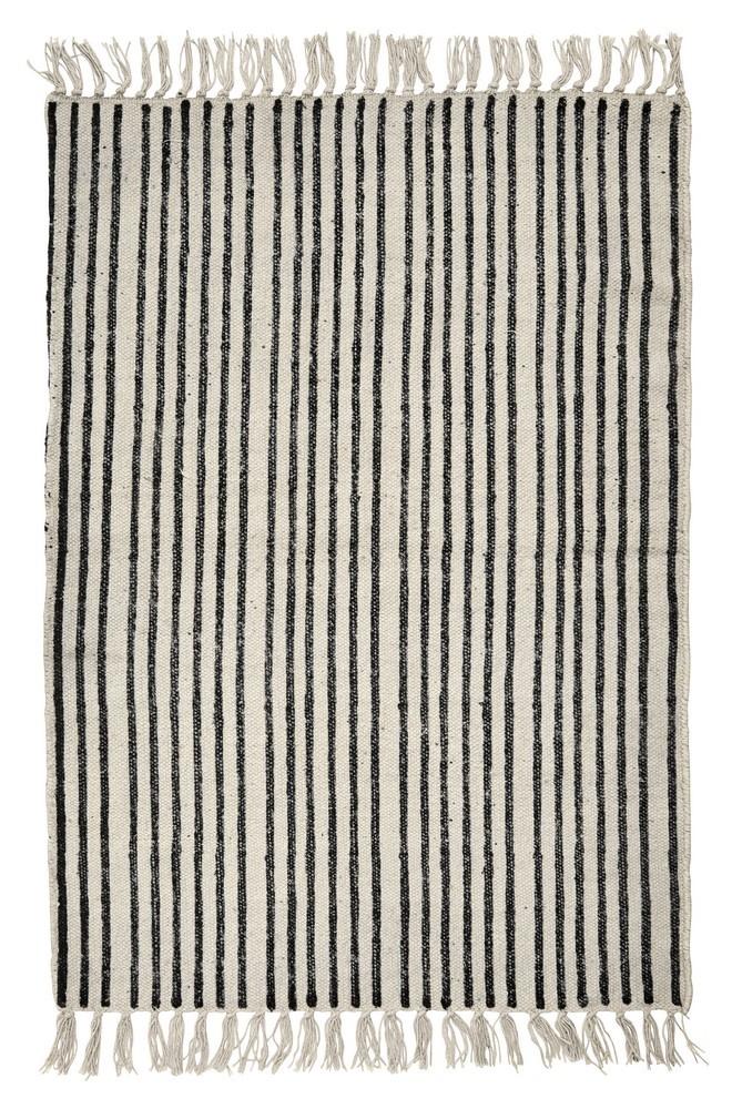 nordal tapis rayures noir et blanc - Kdesign