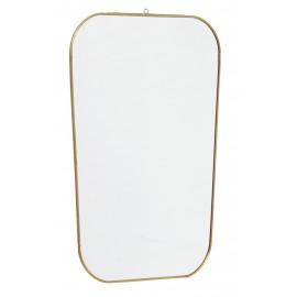 nordal miroir laiton rectangulaire avec coins arrondis