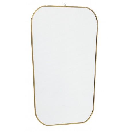 Miroir laiton rectangulaire avec coins arrondis Nordal