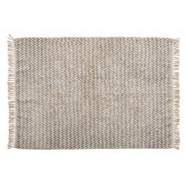 Tapis coton tissé gris blanc Hübsch 127 x 180 cm