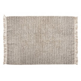 Tapis coton tissé gris blanc Hübsch