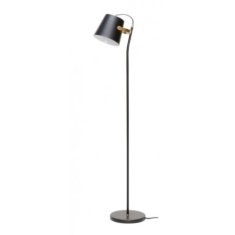 hubsch lampadaire metal noir laiton