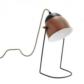 Lampe de bureau rétro métal vieux rose Madam Stoltz