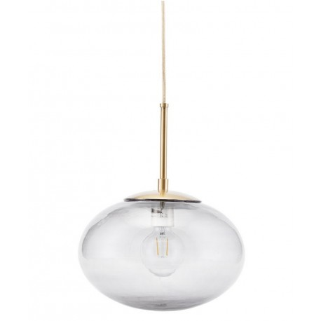 house doctor opal suspension grise verre laiton
