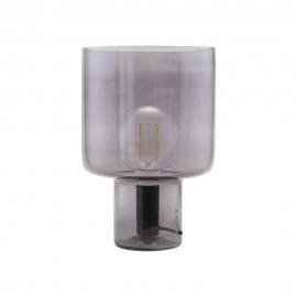 Lampe à poser design verre gris fumé House Doctor Otto 24 cm