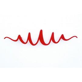 Porte-manteau mural patère rouge design métal Scribble Headsprung