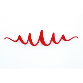 Perchero decorativo de pared diseño metal rojo Scribble Headsprung