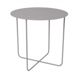 Petite table basse ronde métal gris Broste Copenhagen Cirkel