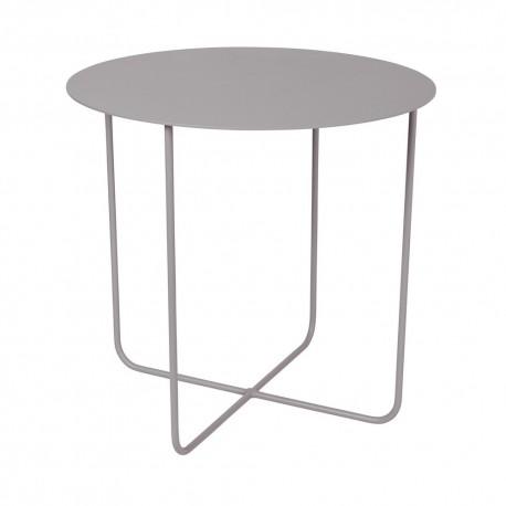 broste copenhagen petite table basse ronde metal gris