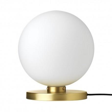 Lampe à poser boule blanche laiton Broste Copenhagen caspa