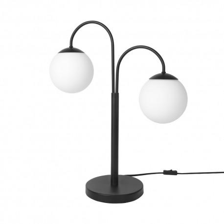 Lampe de table art déco bras métal noir deux boules Broste Copenhagen Caspa 2