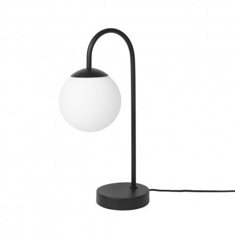lampe de table art deco bras metal noir boule broste copenhagen caspa