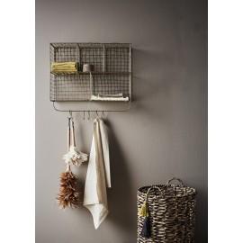 etagere murale metal filaire dore laiton crochets pateres madam stoltz