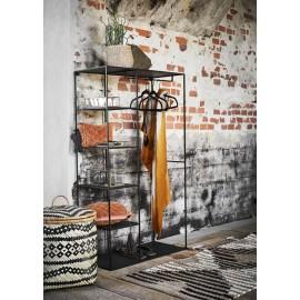 penderie ouverte design metal noir 5 etageres madam stoltz wardrobe