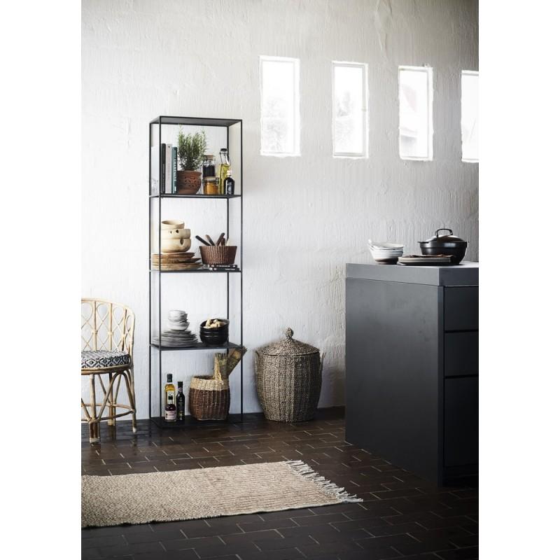 etagere a poser colonne metal noir madam stoltz. Black Bedroom Furniture Sets. Home Design Ideas