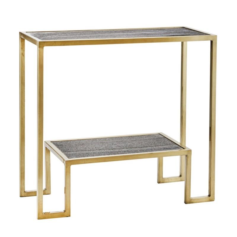 etagere console metal dore laiton marbre gris madam stoltz. Black Bedroom Furniture Sets. Home Design Ideas