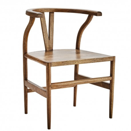 Chaise bois style asiatique vintage Madam Stoltz