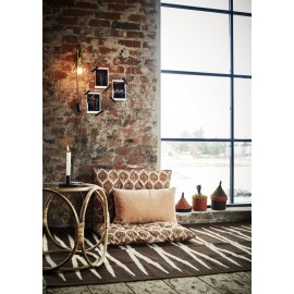 tapis style retro vintage jute marron madam stoltz
