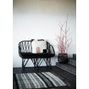 tapis rayures noir blanc ecru jute madam stoltz 120 x 180 cm