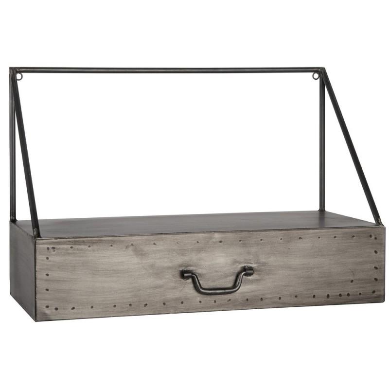 etagere murale metal style industriel tiroir ib laursen. Black Bedroom Furniture Sets. Home Design Ideas