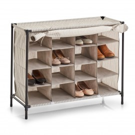 range chaussures tissu beige raye 16 paires zeller stripes