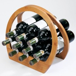 Casier à bouteilles bois design umbra barrel