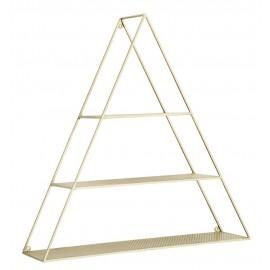 etagere murale triangle metal dore laiton madam stoltz