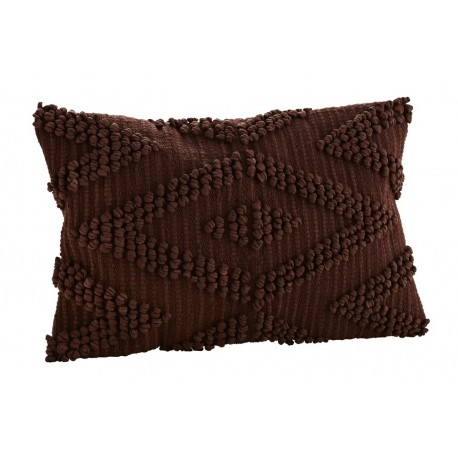 Housse de coussin coton bohème rouge bordeaux Madam Stoltz 40 x 60 cm