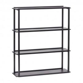 etagere a poser etroite en metal noir 4 niveaux hubsch 020610