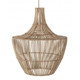 Suspension bois clair rotin naturel design Bloomingville D 42 cm