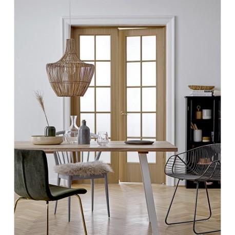 bloomingville suspension bois rotin naturel design 46009991