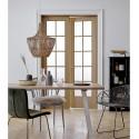 Suspension bois clair rotin naturel design Bloomingville D 42 cm