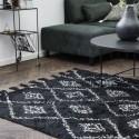 house doctor marlie tapis noir coton 200 x 140 cm Rm0130-140x200