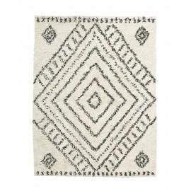 house doctor nubia tapis berbere blanc noir coton 210 x 160 cm Rm0140-160x210