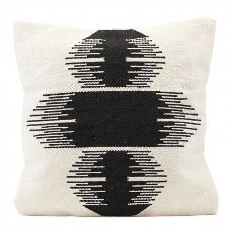 Housse de coussin design coton noir blanc House Doctor Ginea