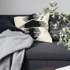 house doctor ginea housse de coussin design coton noir blanc Jd0262