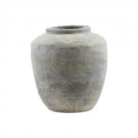 house doctor vase beton gris rustik Fg0402